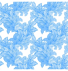 hand draw leaf seamless pattern vector image vector image