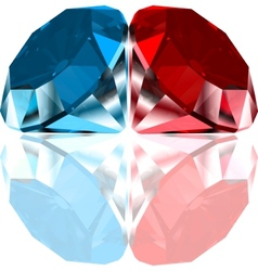 Red and blue diamonds vector image vector image