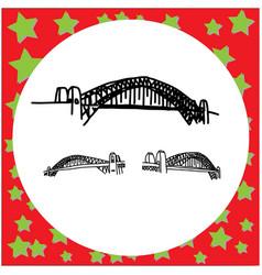 sydney harbour bridge australia hand drawn doodle vector image vector image