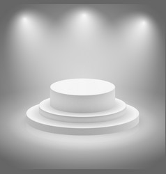 White empty illuminated stage vector image vector image