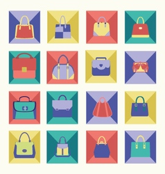 bags icons collection of Women handbags vector image vector image