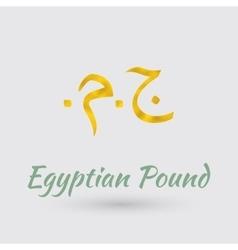 Golden Symbol og Egyptian Pound vector image vector image