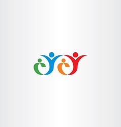 happy family concept logo icon vector image vector image