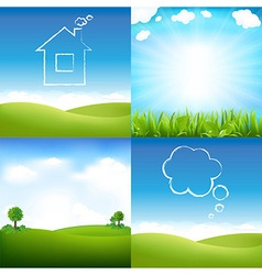 Landscape And Sky vector image