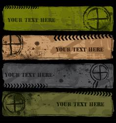 military banners vector image vector image