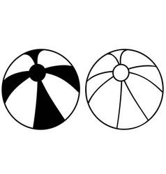 simple black beach ball icon vector image vector image