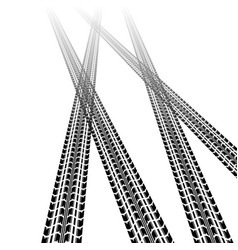 Two tire tracks vector