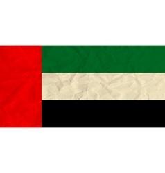 United Arab Emirates paper flag vector image vector image