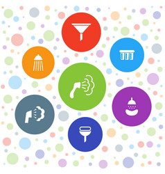 7 pouring icons vector