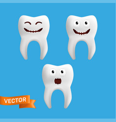 A set cute tooth characters with different vector