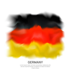 abstract flag germany isolated on white vector image