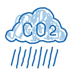 Acid rain doodle icon hand drawn vector