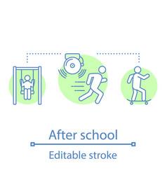 After school activities concept icon vector