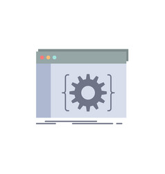 Api app coding developer software flat color icon vector