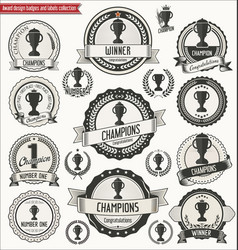 award design badges and labels collection vector image