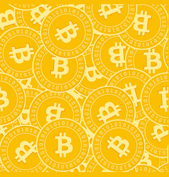Bitcoin internet currency coins seamless pattern vector