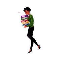 black african american businesswoman woman vector image