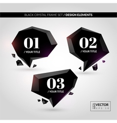 Black Crystal Frame Set vector image
