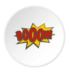 Boom explosion icon circle vector