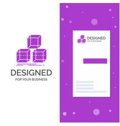 Business logo for arrange design stack 3d box vector