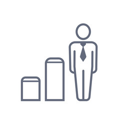 career ladder icon business human vector image