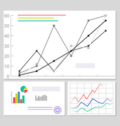 charts and graphics data set vector image