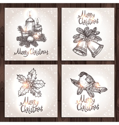 Christmas Cards Collection vector image