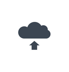 cloud storage related glyph icon vector image