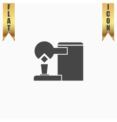 Coffee maker flat icon vector