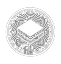 Crypto currency stratis black and white symbol vector