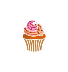 Cupcake delicious logo vector