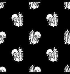 Cute punk rock skunk monochrome lineart on black vector