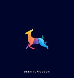 deer jumping template vector image
