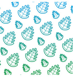 degraded line tropical leaf botany nature vector image