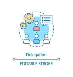 Delegation concept icon vector