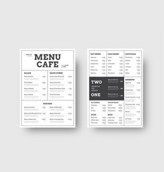 Design menu for cafes and restaurants with the vector