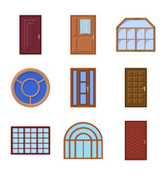 Design of door and front sign collection vector