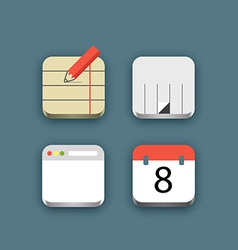 Different business icons set with rounded corners vector image