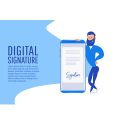 digital signature creative people collection vector image