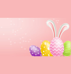 easter traditional colorful eggs realistic vector image