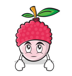 Eye roll face lychee cartoon character style vector