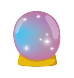 Fairytale crystal ball icon vector