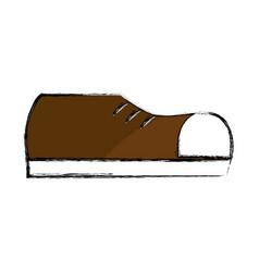 Fashin man shoes style vector