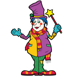 friendly clown vector image