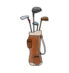 golf clubs bag vector image
