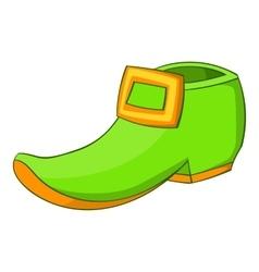 Green boot icon cartoon style vector