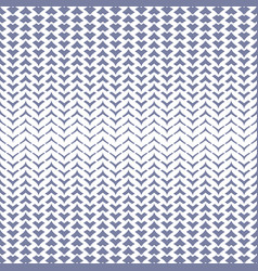 Halftone mesh seamless pattern with curved zigzag vector