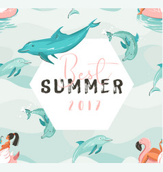 hand drawn abstract cute summer time card vector image