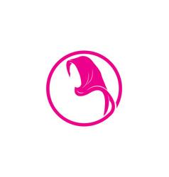 hijab logo culture woman muslim fashion vector image
