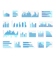 Histogram business chart isolated set on white vector